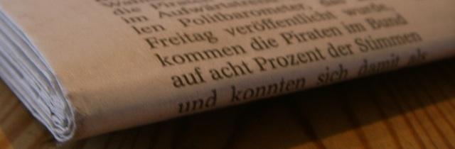 Ausschnitt eines Zeitungsberichtes