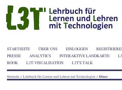 Bildschirmfoto - Ausschnitt von L3T Website