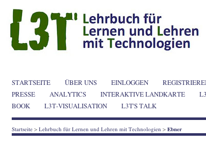 Bildschirmfot vom Schriftzug L3T